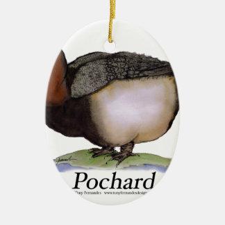 Pochard duck, tony fernandes christmas ornament