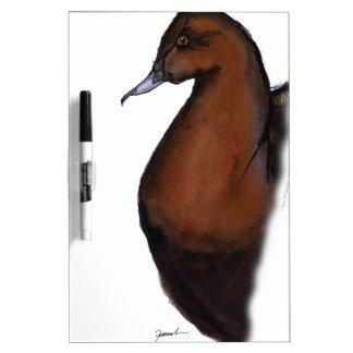 pochard duck, tony fernandes dry erase board