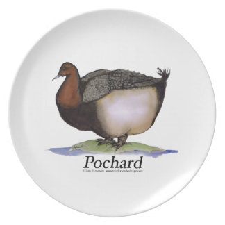 pochard duck, tony fernandes plate