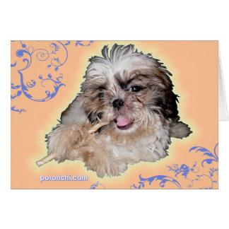 Pochi Puppy plays Music Greeting Card