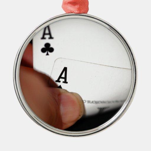 Pocket Aces Ornaments