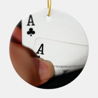 Pocket Aces Christmas Tree Ornaments