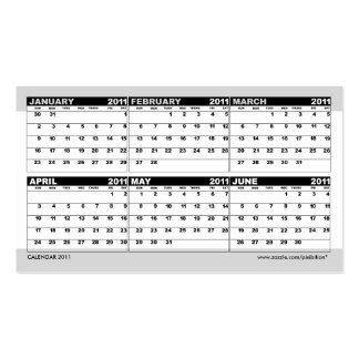 Pocket Calendar 2011 Business Card Customer Gift