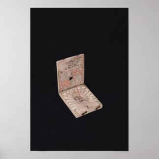 Pocket compass, 1592 poster
