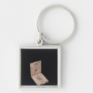 Pocket compass, 1592 Silver-Colored square key ring