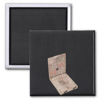 Pocket compass, 1592 square magnet