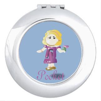 Pocket doll makeup mirror