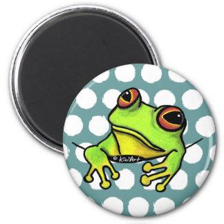 Pocket Frog 6 Cm Round Magnet
