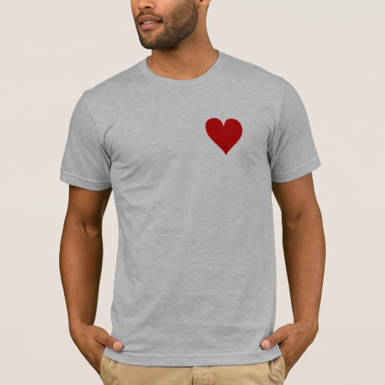 Pocket Heart Gym Tee - Fitted Grey