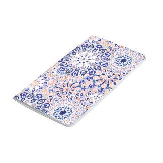 Pocket Journal with Mandala Floral Pattern Print
