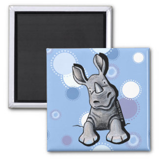 Pocket Rhino Faded Blue Dots Magnet