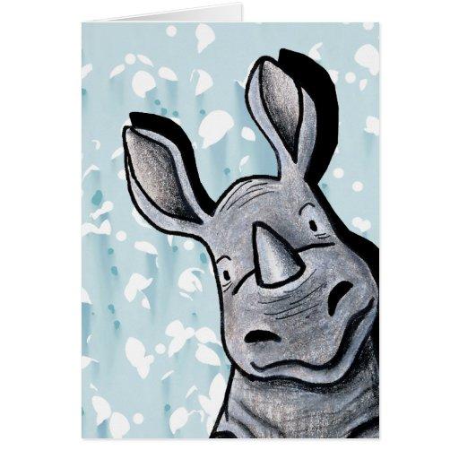 Pocket Rhino Greeting Card