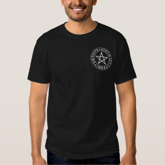 pocket Rune Pentacle on Blk T Shirts
