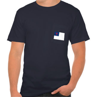 POCKET-T WITH CHRISTIAN FLAG T-Shirt