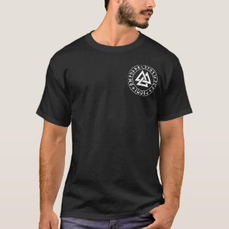pocket Tri-Triangle Rune Shield on Blk T-Shirt