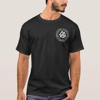 pocket Tri-Triangle Rune Shield on Blk T-Shirt