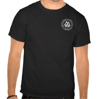 pocket Tri-Triangle Rune Shield on Blk Tees