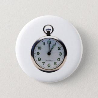 Pocket Watch 6 Cm Round Badge