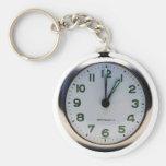 Pocket Watch Basic Round Button Key Ring
