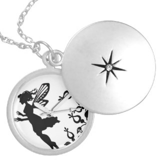 pocket watch elegant Vintage tinkerbell Paris Locket Necklace