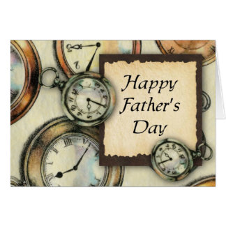 Pocket Watch Father's Day Card (Large Print)