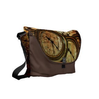 Pocket watch steampunk messenger bag