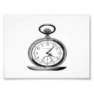 Pocket Watch Vintage Newspaper Ad Photo Print