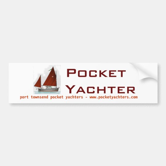 Pocket Yachters bumper sticker