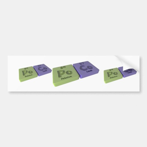Poco as Po Polonium and Co Cobalt Bumper Sticker