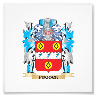 Pocock Coat of Arms - Family Crest Photographic Print