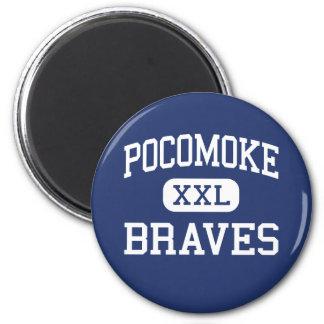 Pocomoke Braves Middle Pocomoke City 6 Cm Round Magnet