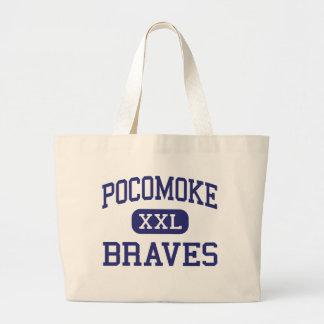 Pocomoke Braves Middle Pocomoke City Tote Bag