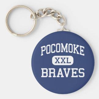 Pocomoke Braves Middle Pocomoke City Basic Round Button Key Ring