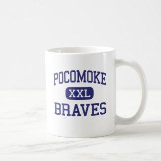 Pocomoke Braves Middle Pocomoke City Basic White Mug