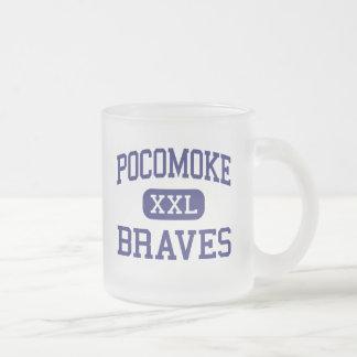Pocomoke Braves Middle Pocomoke City Frosted Glass Mug
