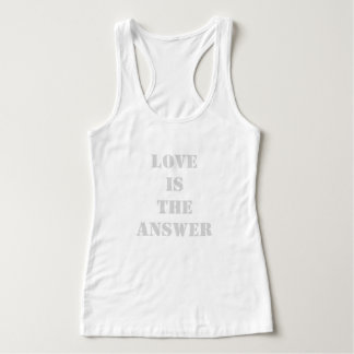 PODALMIGHTY.NET LOVE IS THE ANSWER TANK TOP