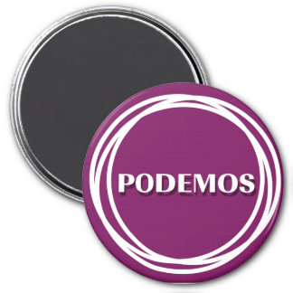 PODEMOS 7.5 CM ROUND MAGNET