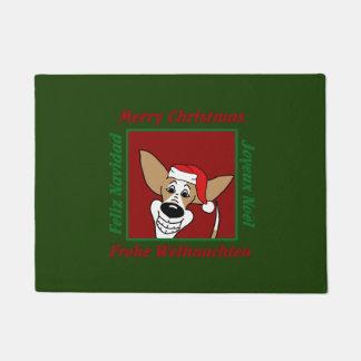 Podenco Christmas Doormat