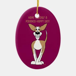 Podenco Smile Christmas Ornament