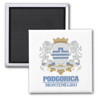 Podgorica Coat of Arms Square Magnet