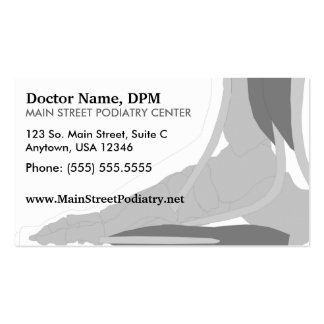 Podiatrist / Appointment Card Double-Sided Standard Business Cards (Pack Of 100)