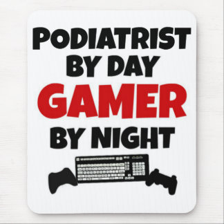 Podiatrist by Day Gamer by Night Mouse Mat