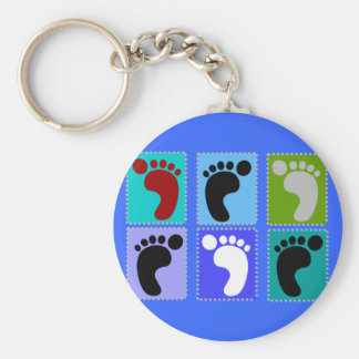Podiatrist Gifts Popart Design of Feet Basic Round Button Key Ring