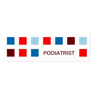 PODIATRIST (mod squares) Pack Of Skinny Business Cards