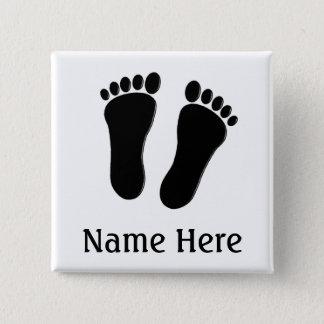 Podiatrist Name Buttons Customizable B&W