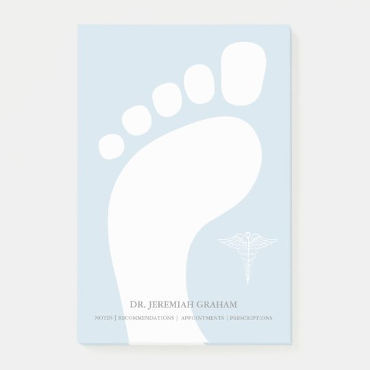 Podiatrist Personalised Name Post-it Notes