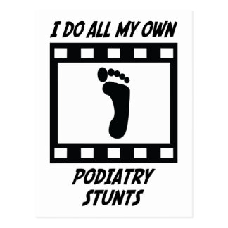 Podiatry Stunts Postcard