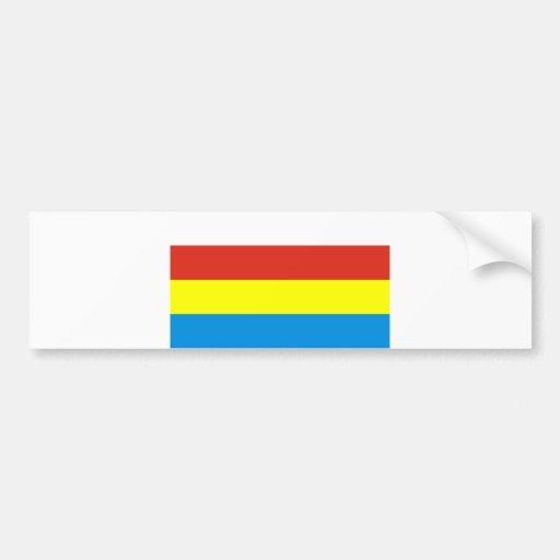 podlaskie flag poland county region bumper stickers