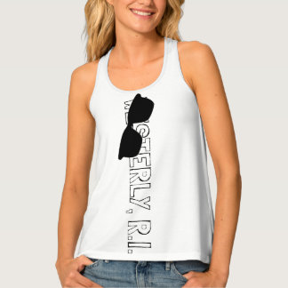 PODPILOTS.COM WESTERLY, R.I. WITH SHADES RACERBACK TANK TOP