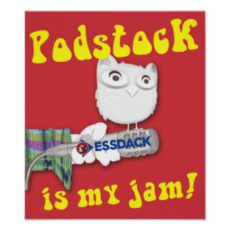 Podstock is my jam! 10th Birthday commemoration Poster